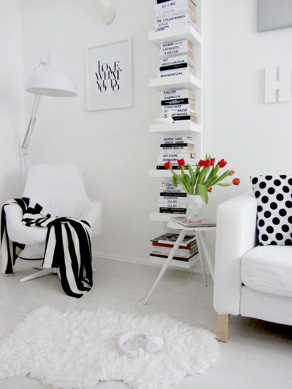 Resultado de imagen de decorar con libros estanteria estilo escandinavo