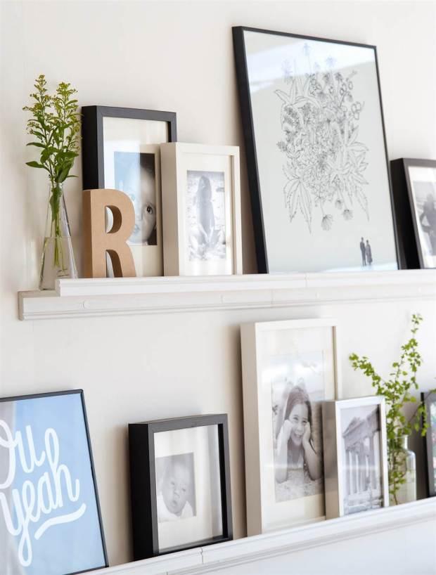 estanterias para colocar fotos y cuadros