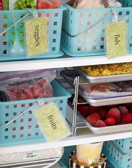 pon en el congelador cesas para separar los alimentos