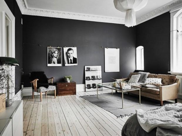 las paredes negran crean misterio y sensualidad
