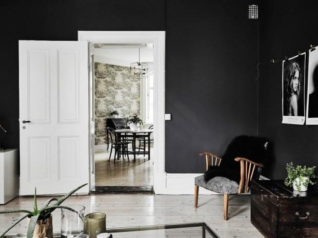 las paredes negras crean misterio, sensualidad y pueden ser muy elegantes