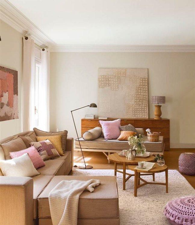 muebles oscuros pinta las paredes de tonos claros y arenas
