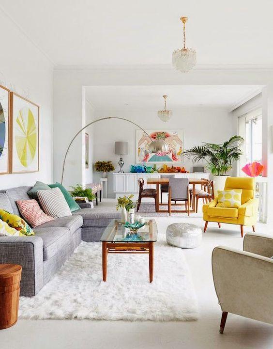 base blanco y complementos de colores te aportarán frescura y calidez.