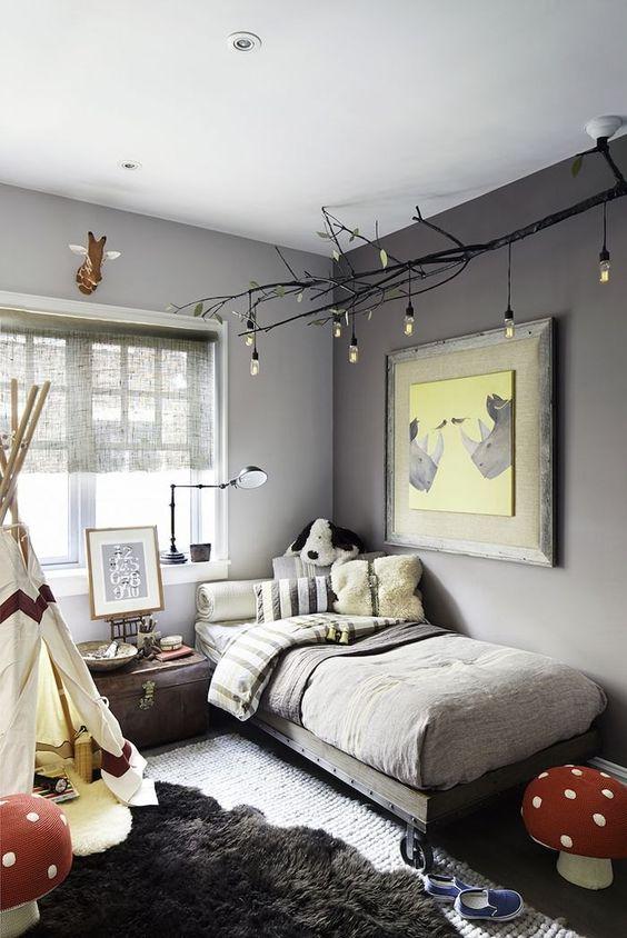 si la habitación no es luminosa y quieres calidez usa color en las paredes