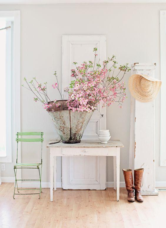 dcora tu entrada con flores con la llegada de la prima
