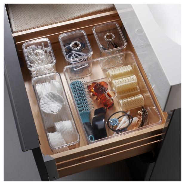 Organiza el interior de los cajones del baño con cajas pequeñas
