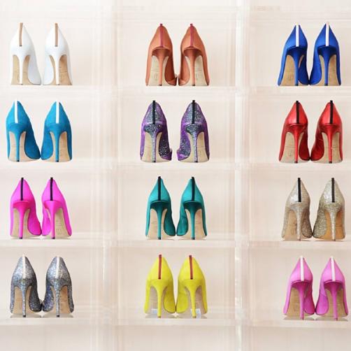 Zapatos, todos en el mismo armario, aprovecharás el espacio y ganarás tiempo