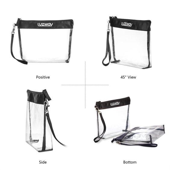 Organiza el bolso, guarda en bolsas transparentes