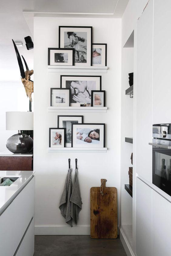 Decora con fotos las paredes de tu casa, te harán sonreír cuando las veas, serás más feliz